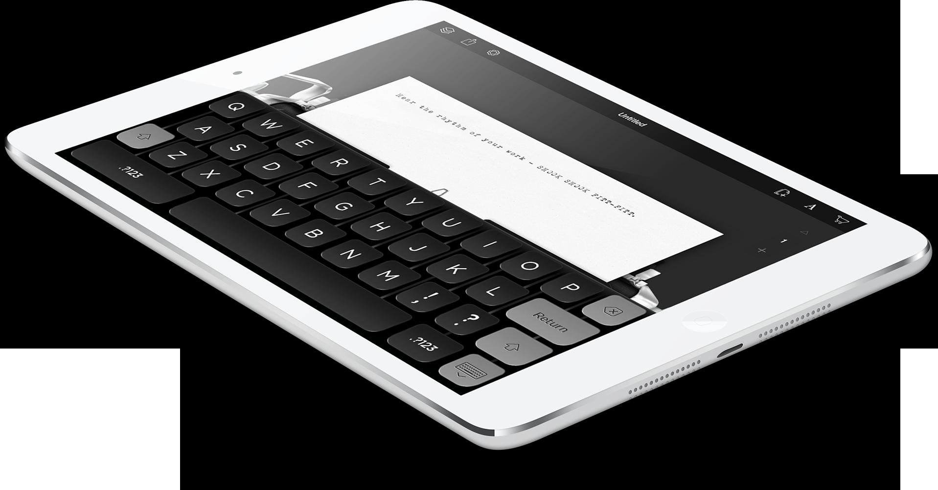 Tom Hanks e la macchina da scrivere per iPad