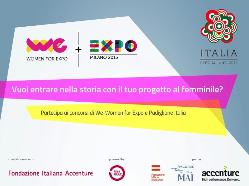 Expo 2015: Women For Expo due nuovi concorsi al femminile
