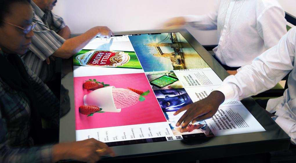 Addio vecchio men arriva il tavolino multimediale - Tavoli interattivi ...