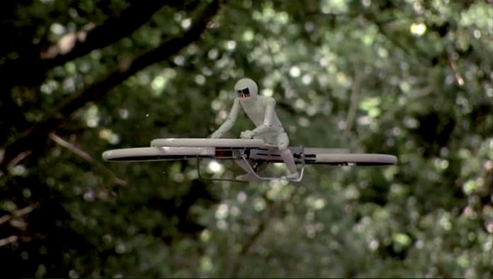 Metà elicottero, metà biciletta, è l'HoverBike