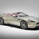 Le Aston Martin Personalizzate da Q in mostra a Pebble Beach - particolare frontale della DB9 di 3/4