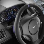 Le Aston Martin Personalizzate da Q in mostra a Pebble Beach - particolare dello sterzo