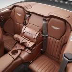 Le Aston Martin Personalizzate da Q in mostra a Pebble Beach - Particolare degli interni posteriori della Vanquish Volante
