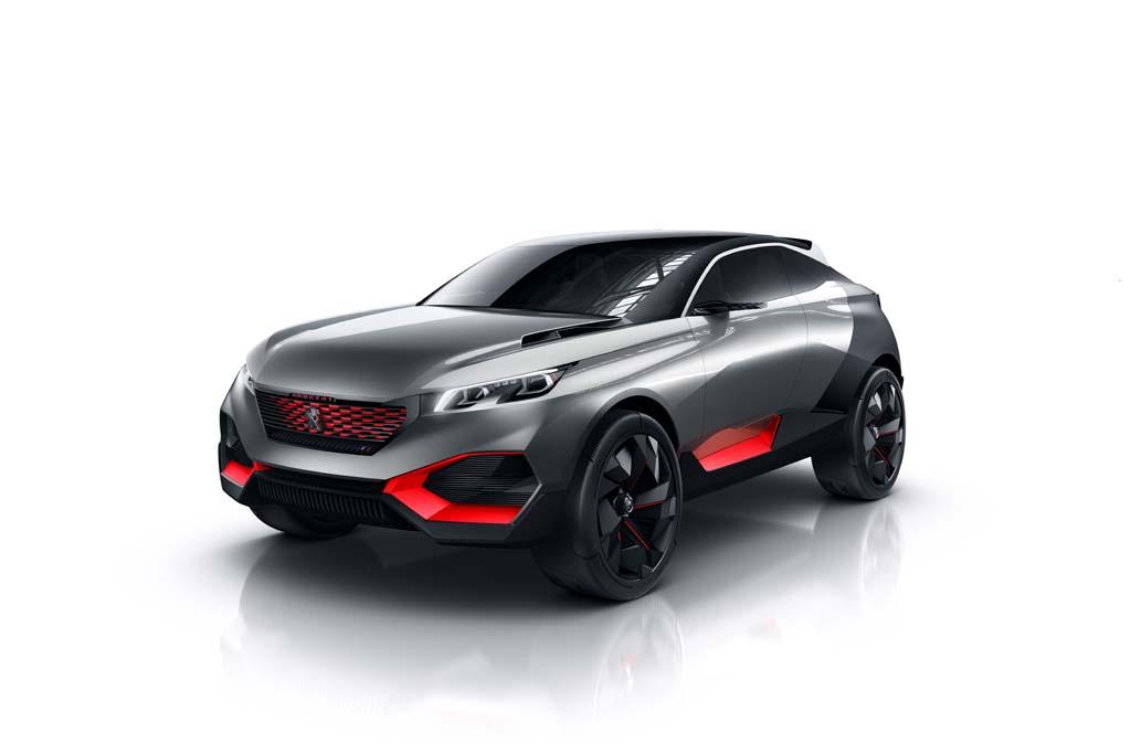 Peugeot Quartz crossover concept metà SUV metà Sport Car