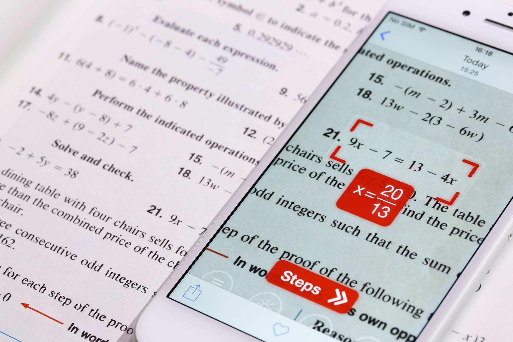 PhotoMath l'app che risolve le equazioni… fotografandole