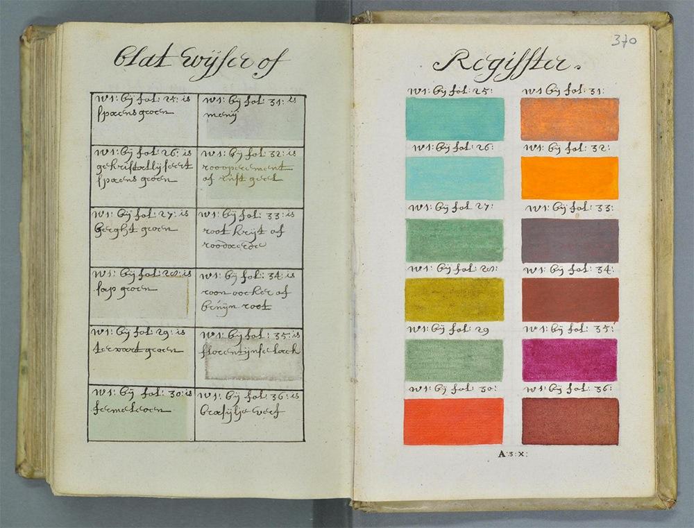 L'enorme guida di colori in stile pantone che sbuca dal passato di 322 anni fa