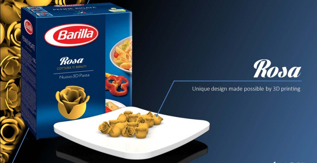 Barilla usa la stampa 3D per inventare nuove forme di pasta