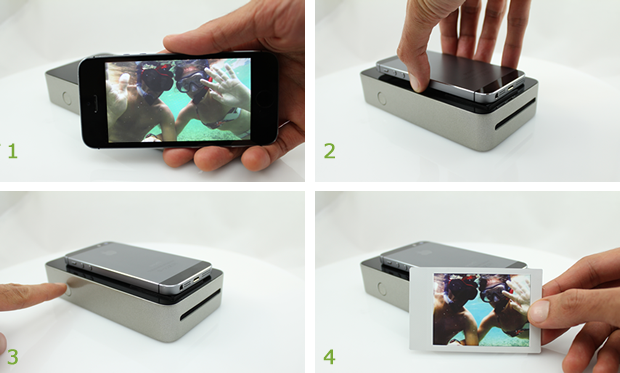 snapjet trasforma l 39 iphone in una stampante polaroid. Black Bedroom Furniture Sets. Home Design Ideas