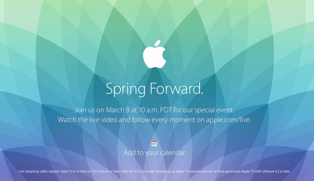 Apple fuori gli inviti per il 9 Marzo. Attesa per Apple Watch