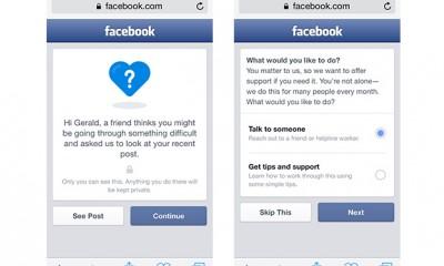 Facebook rilascia uno strumento per prevenire i suicidi
