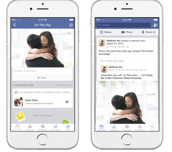 """Facebook introduce """"Accadde oggi"""" per ricordare il passato"""