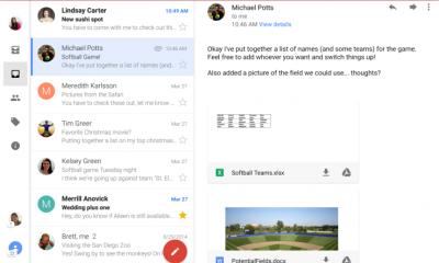 Gmail aggiornamento per Android, arrivano gli account unificati