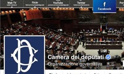 La Camera dei Deputati su Facebook