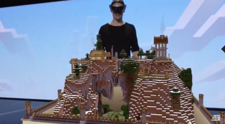 Microsoft svela una versione di Minecraft per HoloLens