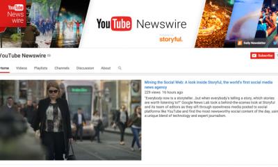 YouTube lancia NewsWire il canale per i giornalisti