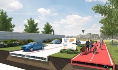 Plastic Road in Olanda la plastica riciclata sostituisce l'asfalto