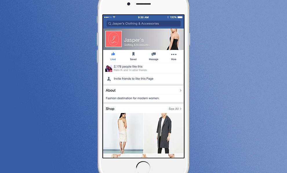 Facebook testa l'e-commerce all'interno del social