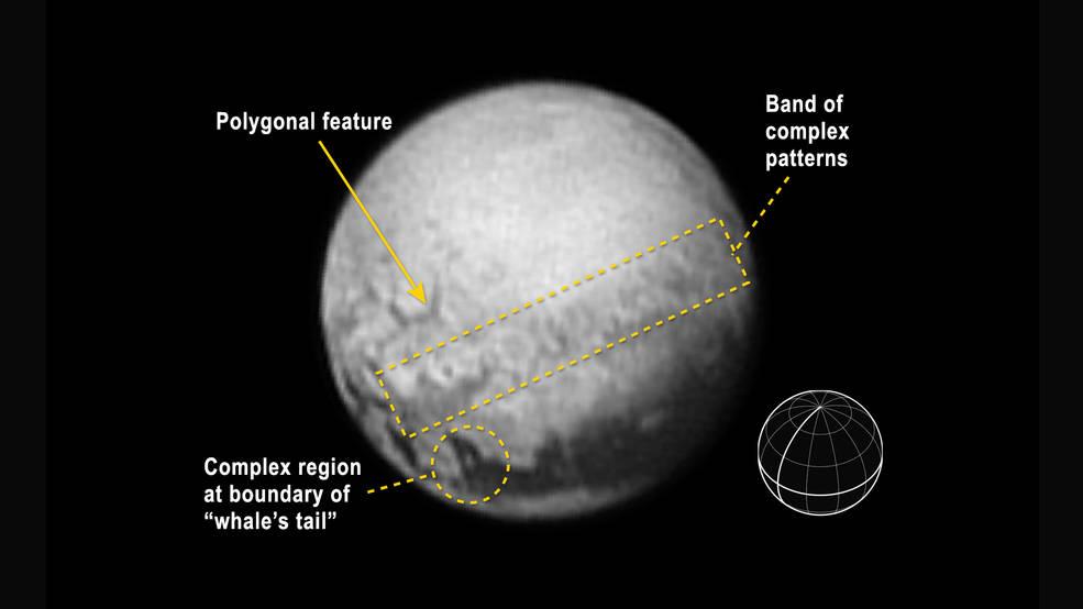 """Nuove immagini da Plutone, compare la """"Coda della Balena"""""""