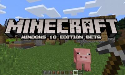 Minecraft per Windows 10: annuncio ufficiale Microsoft