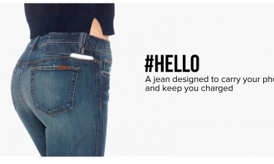 Hello il jeans con ricarica per Smartphone incorporata