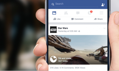 Facebook introduce i video a 360 gradi