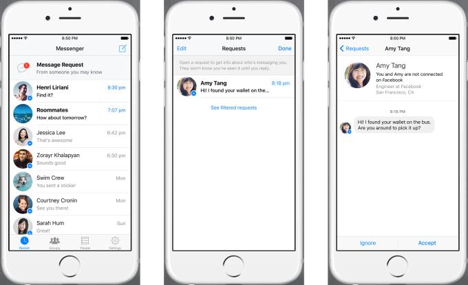 """Facebook: si potrà chattare anche con i """"non amici"""""""
