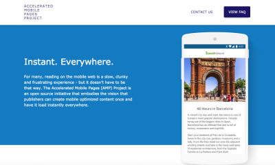Google Accelerated Mobile Pages (AMP) web veloce da mobile