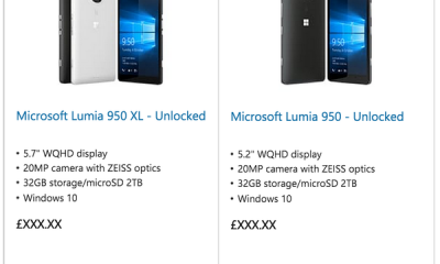 Microsoft Lumia 950 e 950 XL sullo store prima del lancio