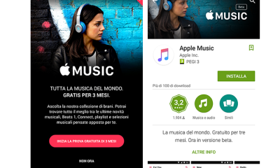 Apple Music è ora disponibile anche su Android