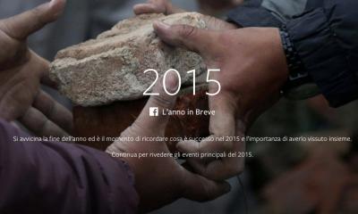 """Cosa è successo nel 2015 secondo Facebook, ecco """"Year in Review"""""""
