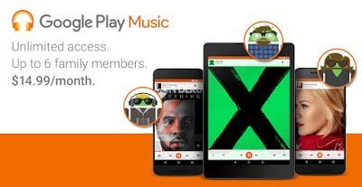 Google Play Music, nuovo abbonamento per le famiglie