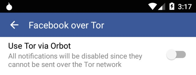 Facebook Tor Android
