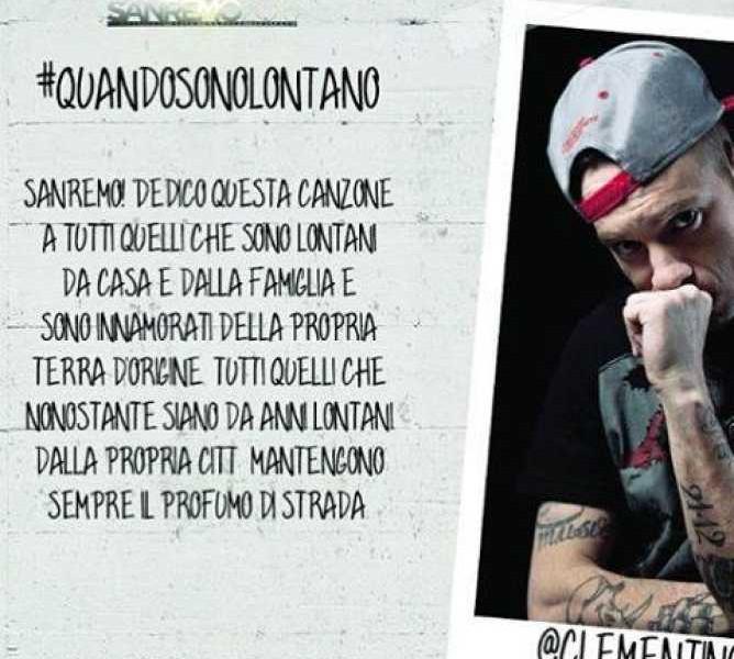 Clementino con Facebook in diretta da Sanremo è il più social