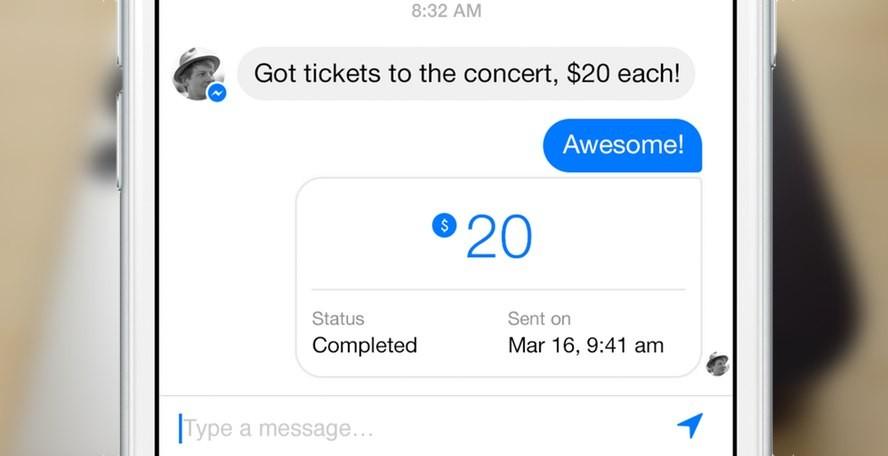 Facebook Messenger si apre ai pagamenti online