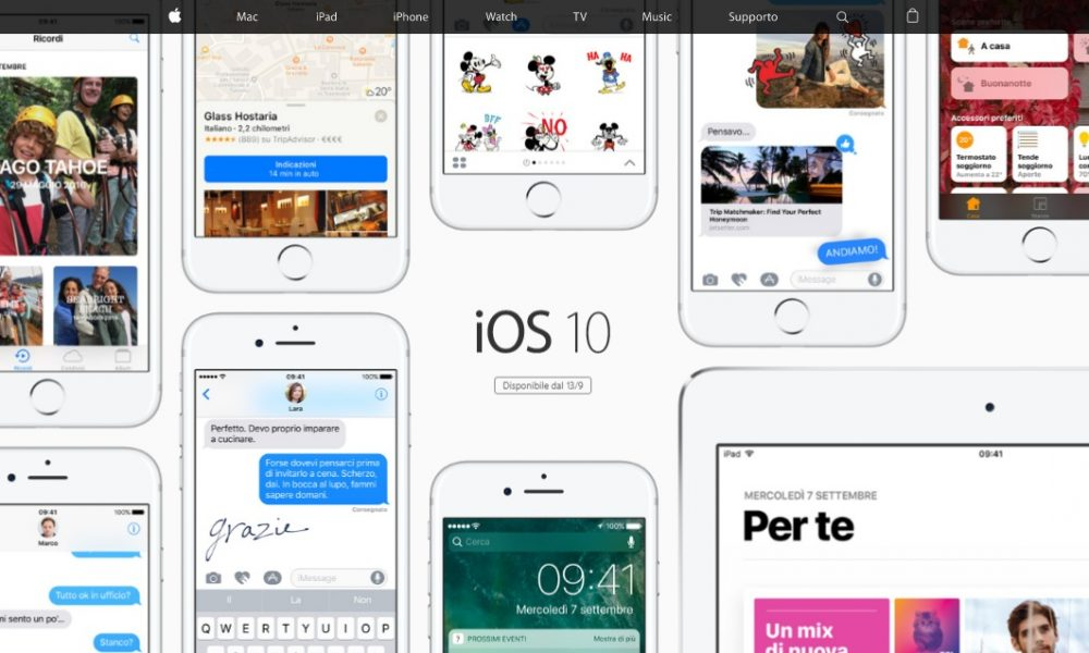 iOS 10, tutte le novità in arrivo