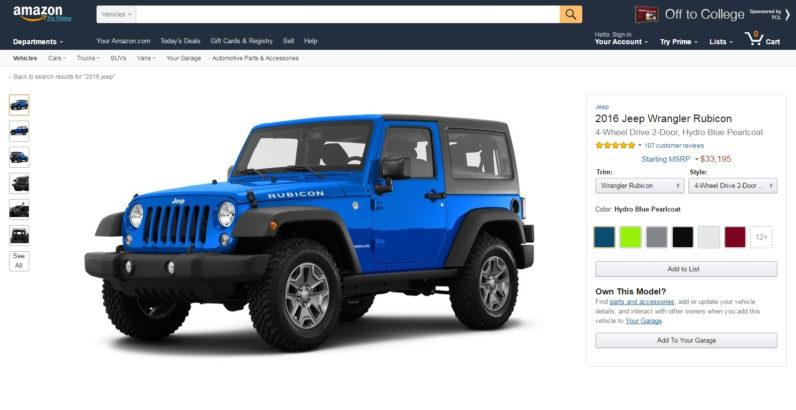 Amazon si prepara alla vendita di auto online?