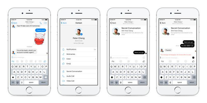 Facebook lancia su Messenger le chat segrete che si autocancellano