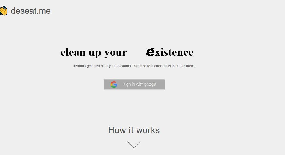 Deseat.me: come sparire da Internet in un click