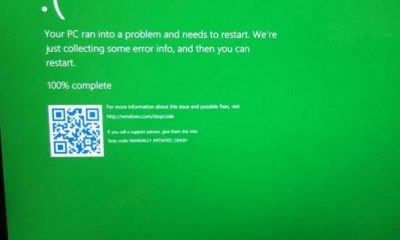 Windows 10, arriva la Green Screen of Death?