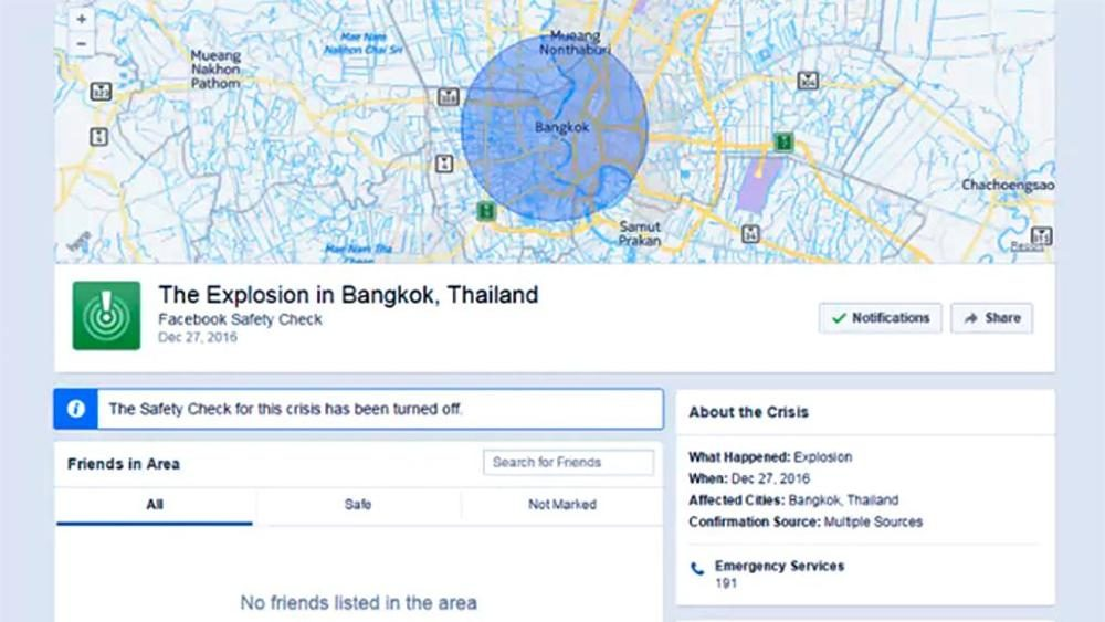 Facebook: Safety Check attivato per attentato esplosivo bufala