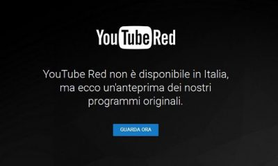 YouTube Red presto disponibile anche in Italia: le ultime indiscrezioni