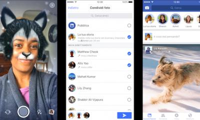 """Facebook """"copia"""" Snapchat: ecco le storie e i filtri per le foto"""