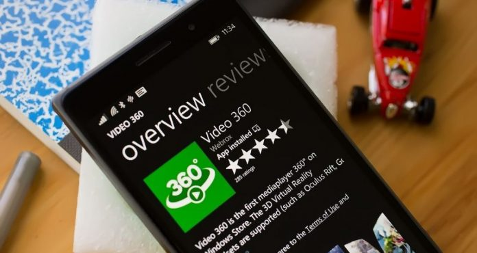 windows 10 video 360 gradi