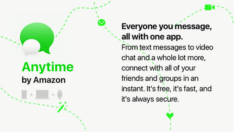 Amazon sfida WhatsApp con Anytime: non solo chat