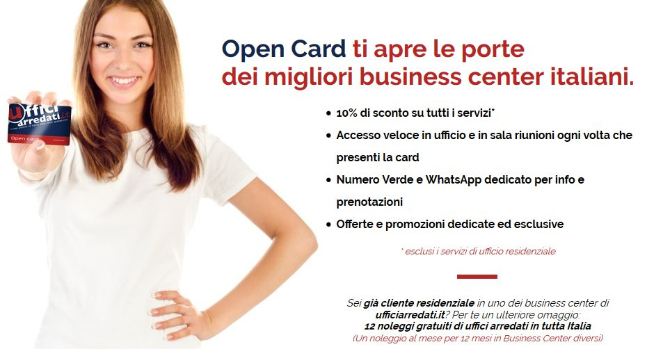 Viaggiare per lavoro ed accedere a uffici in tutta Italia: ora c'è l'Open Card