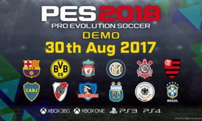 PES 2018: la demo il 30 agosto, il trailer del Gamescon
