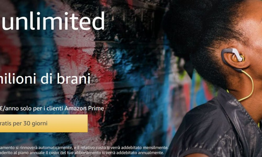 Amazon Music Unlimited sbarca in Italia: come funziona e quanto costa