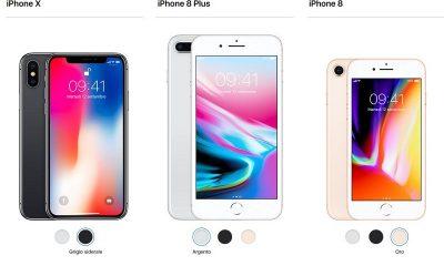 iPhone X e iPhone 8 a confronto: ecco cosa cambia