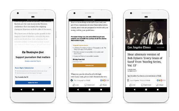 Facebook: news a pagamento anche in Italia, come funzionano