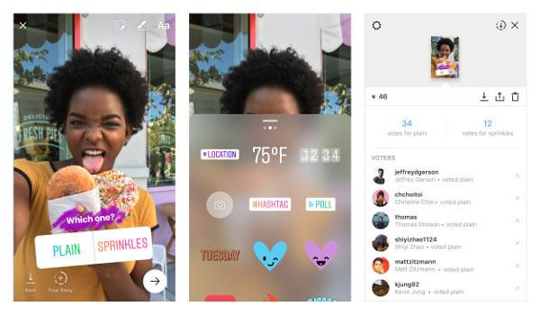 Instagram Stories introduce i sondaggi